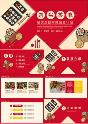 餐饮连锁加盟招商计划动态PPT模板