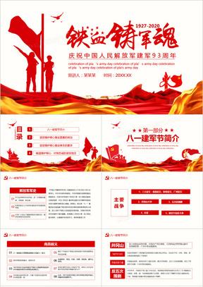 铁血铸军魂庆祝中国人民解放军建军93周年PPT模板