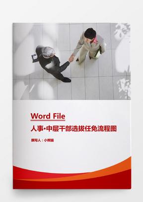 行政管理中层干部选拔任免流程图Word文档