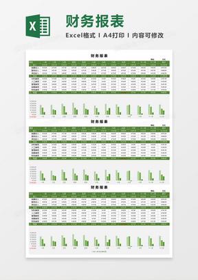 实用财务报表Excel模板
