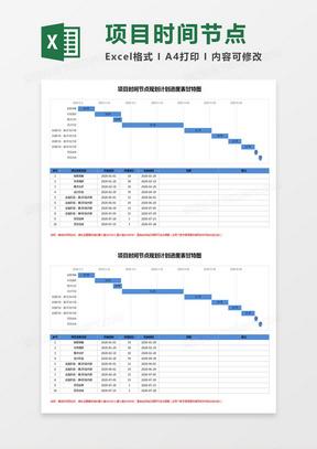 项目时间节点规划计划进度表甘特图Excel模板