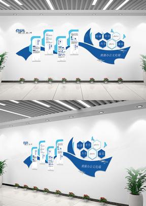 创意绸带企业文化发展文化墙