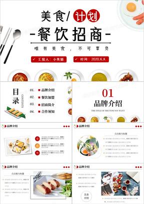 2020餐饮商业招商合作方案简介PPT模板