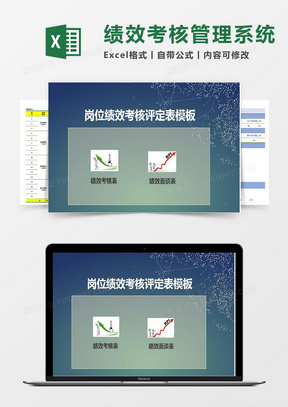 绩效考核模板表(绩效考核、绩效面谈)Excel管理系统
