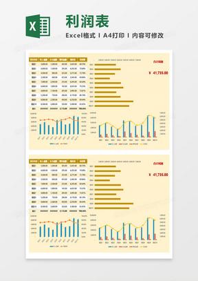 利润表(含图表分析)Excel模板