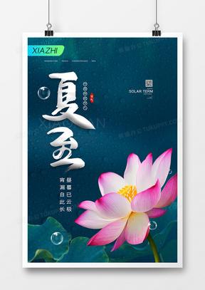 简约中国风夏至二十四气节海报设计