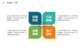四项花瓣形并列关系PPT图形
