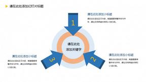 箭头指向中心聚合关系PPT模板