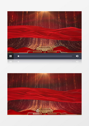 震撼大气红金粒子晚会片头开场背景中美亚洲欧美综合在线片头