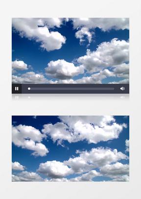 高清实拍白云在蓝蓝的天空中遨游的自在景象实拍中美亚洲欧美综合在线素材