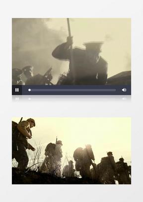 红军长征战争记录录像背景中美亚洲欧美综合在线素材