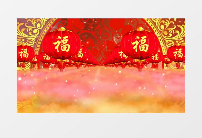 新年春节灯笼登门背景