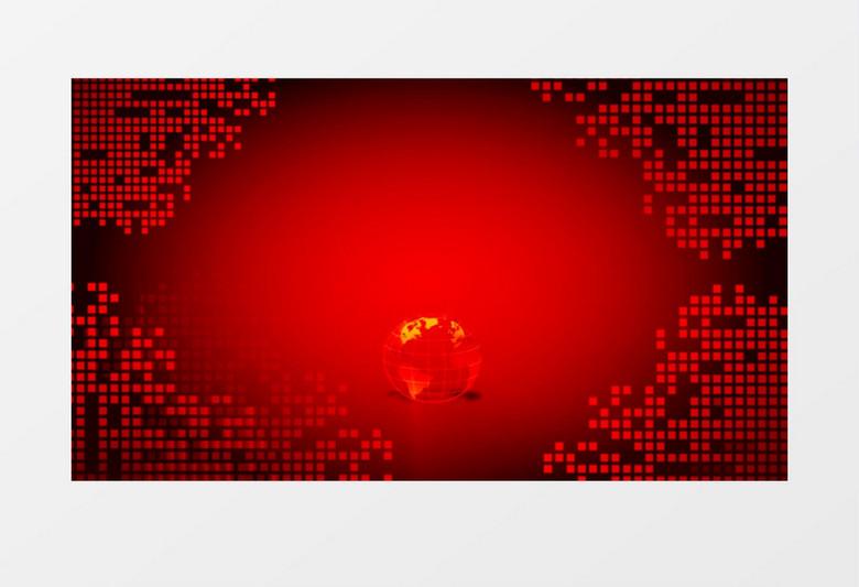 红色新闻联播开场背景视频素材