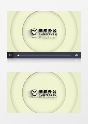 简洁图形动画logo演绎片头