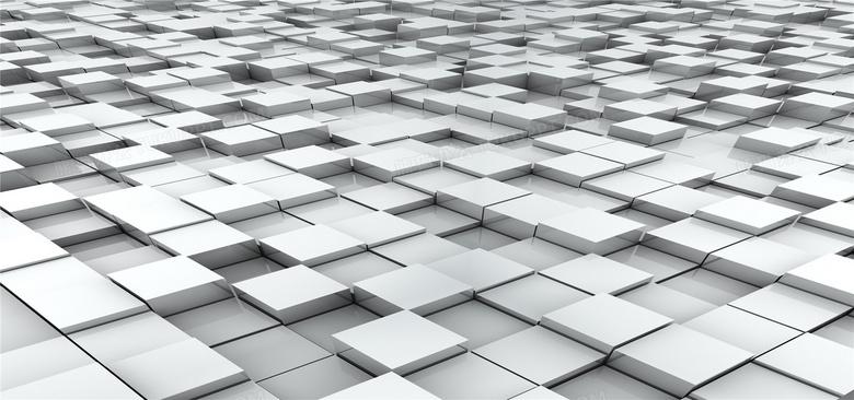 抽象3d立体几何图形图图片_白色立体方块方形背景背景图片素材免费下载_立体背景_1920*900 ...