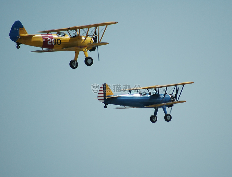 飞机 航空 双翼飞机