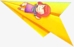 黄色飞机小女孩坐飞机