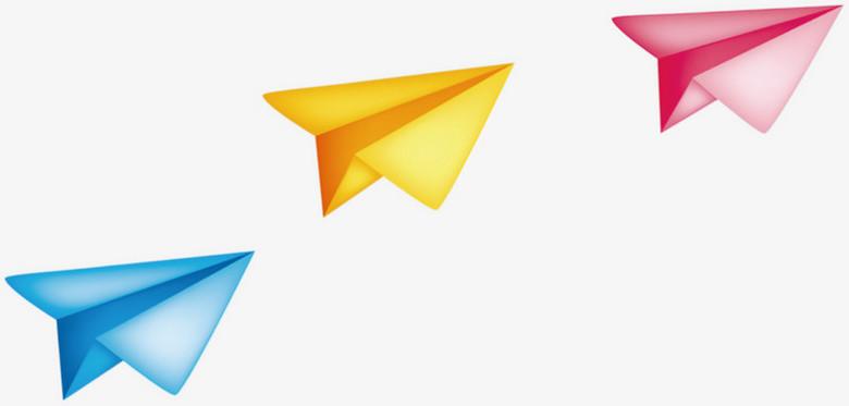 纸飞机一排纸飞机飞翔卡通儿童节六一61