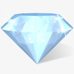 钻石图标png图片素材免费下载 钻石png 256 256像素 熊猫办公