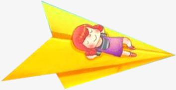纸飞机向右飞的纸飞机六一儿童节主题素材
