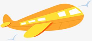飞机卡通飞机黄色飞机