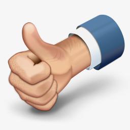 竖大拇指称赞png图片素材免费下载 称赞png 256 256像素 熊猫办公