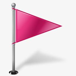 创意粉色小旗png图片素材免费下载 粉色png 256 256像素 熊猫办公