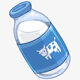 牛奶瓶png图片素材免费下载 牛奶png 256 256像素 熊猫办公