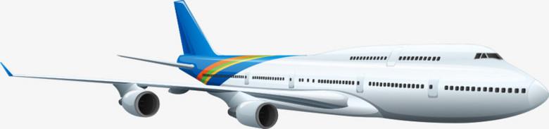 矢量蓝色尾巴飞机