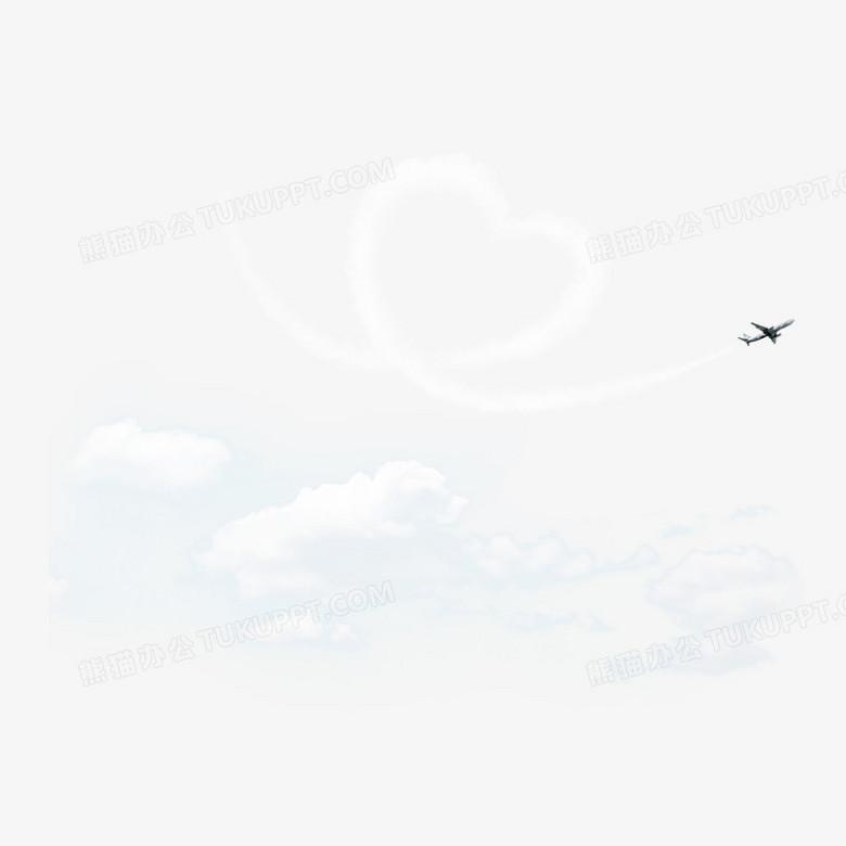 飞机与飞机云