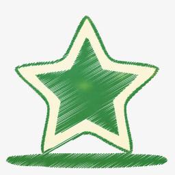 手绘五角星png图片素材免费下载 手绘png 256 256像素 熊猫办公