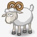 白色小羊png图片素材免费下载 白色png 128 128像素 熊猫办公