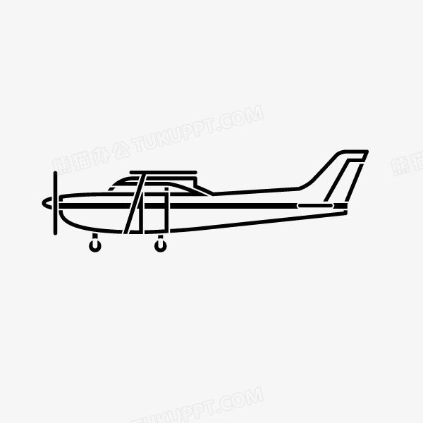 飞机 螺旋飞机 手绘简笔