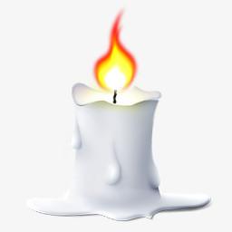 白蜡烛png图片素材免费下载 蜡烛png 256 256像素 熊猫办公