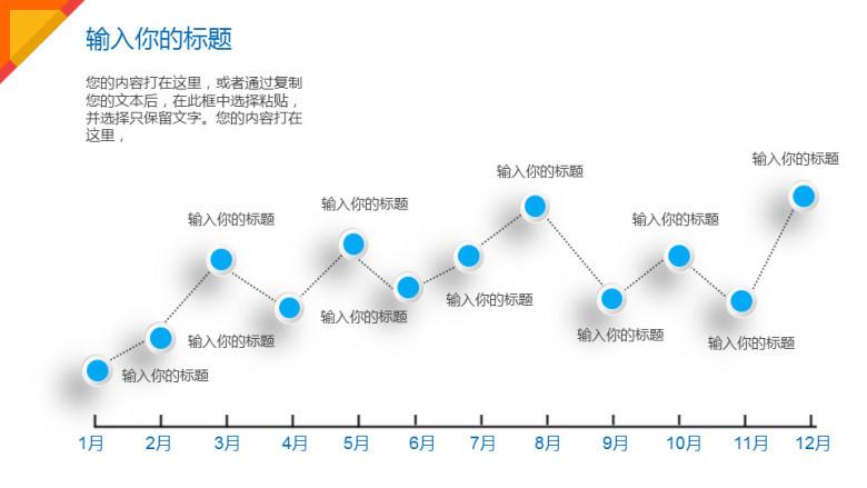 折线统计图ppt免费_月份数据统计折线图PPT图表下载_pptx格式_【熊猫办公】